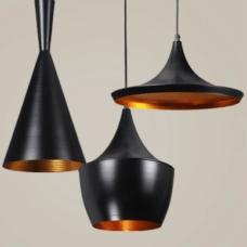 מנורת תליה דגם פיקסו C שחור זהב