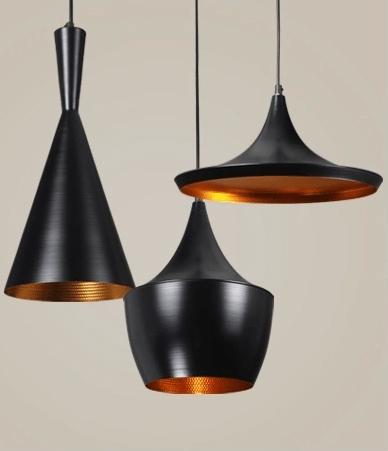 מנורת תליה דגם פיקסו A שחור זהב