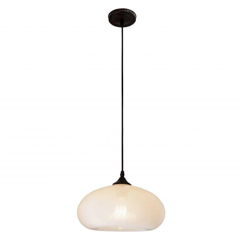מנורת תליה דגם לוצרן לבן זכוכית