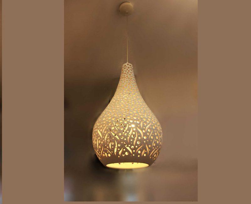 מנורת תליה קרמיקה דגם רוז חורים נחשים ענק