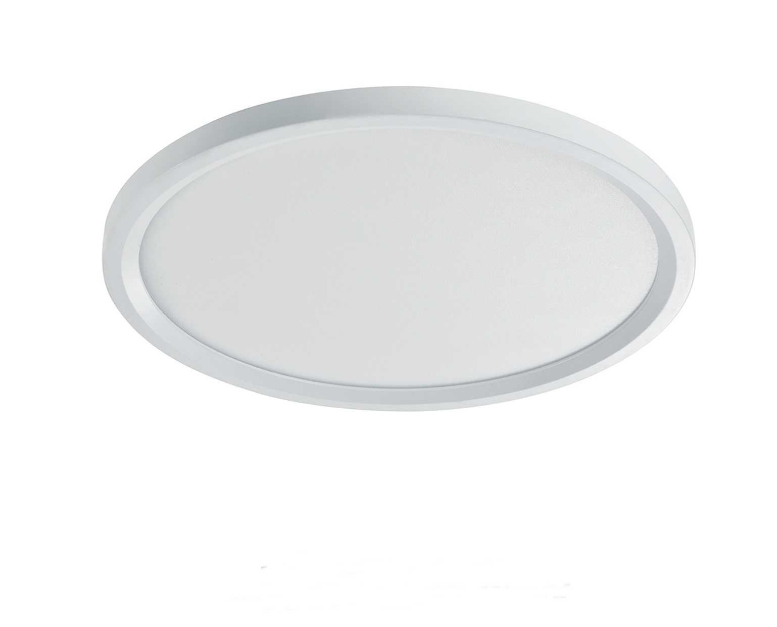 בנפט גוף תאורה צמוד תקרה דגם רחפת לבן (5 מידות) - ברק תאורה LM-69