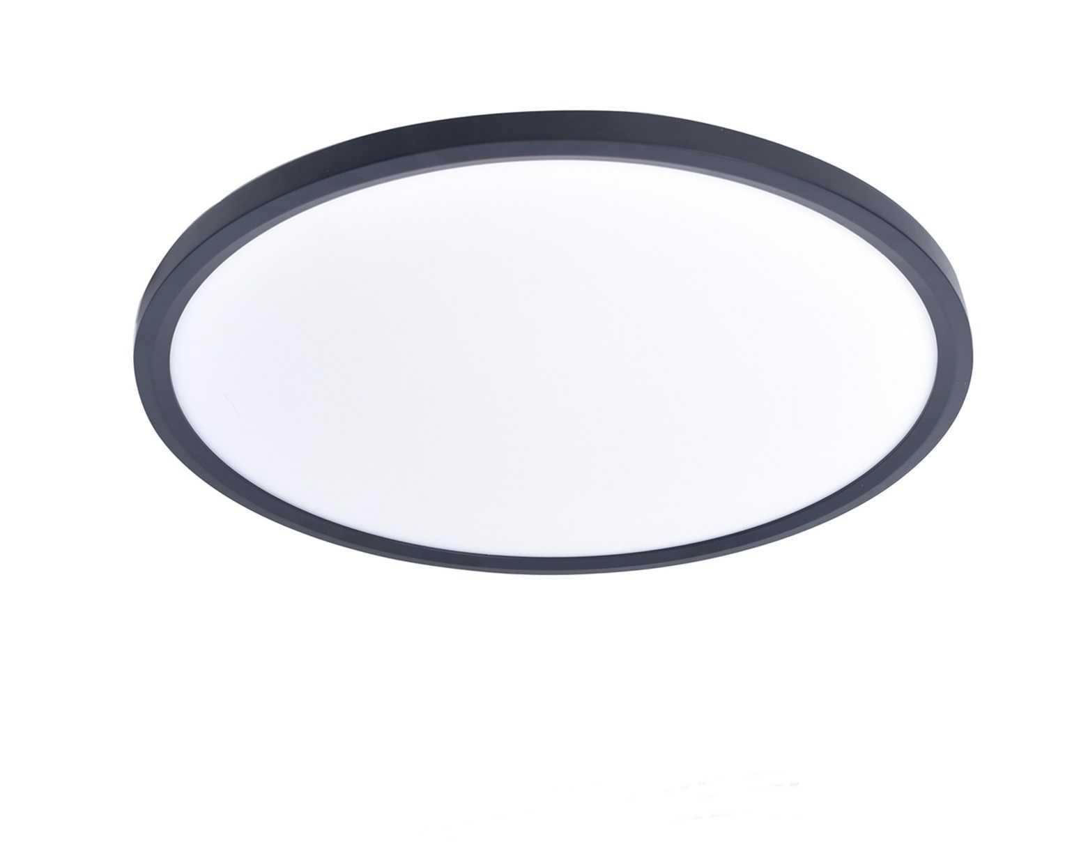 טוב מאוד גוף תאורה צמוד תקרה דגם רחפת שחור (5 מידות) - ברק תאורה PL-06