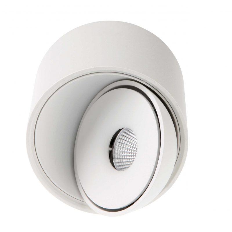 צילינדר צמוד תקרה טויסט 15W לבן+לבן