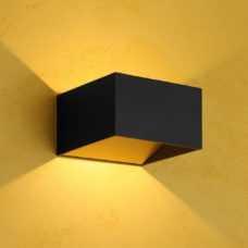 קיר אפ-דאון פריים 7W קוביה שחור/שחור+זהב (2 צבעים)