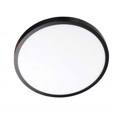 מנורה צמודת תקרה דגם מקס עגול שחור דק במיוחד 2.5 סמ'