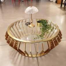 שולחן פליז קוטר 1 מטר
