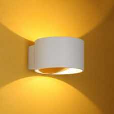 קיר אפדאון פריים 7W עגול לבן/ לבן+זהב  (2 צבעים)