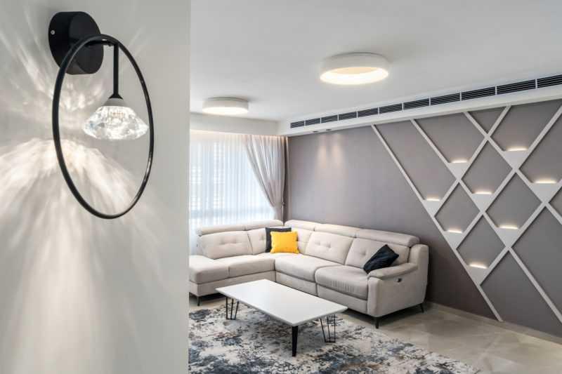 מנורת קיר קשתות קריסטל 7W