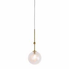 מנורת תליה ייצור מיוחד כדור סיבים 7W פליז/שחור
