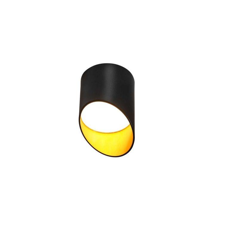 צילינדר לאון 7W שחור/שחור זהב קטן