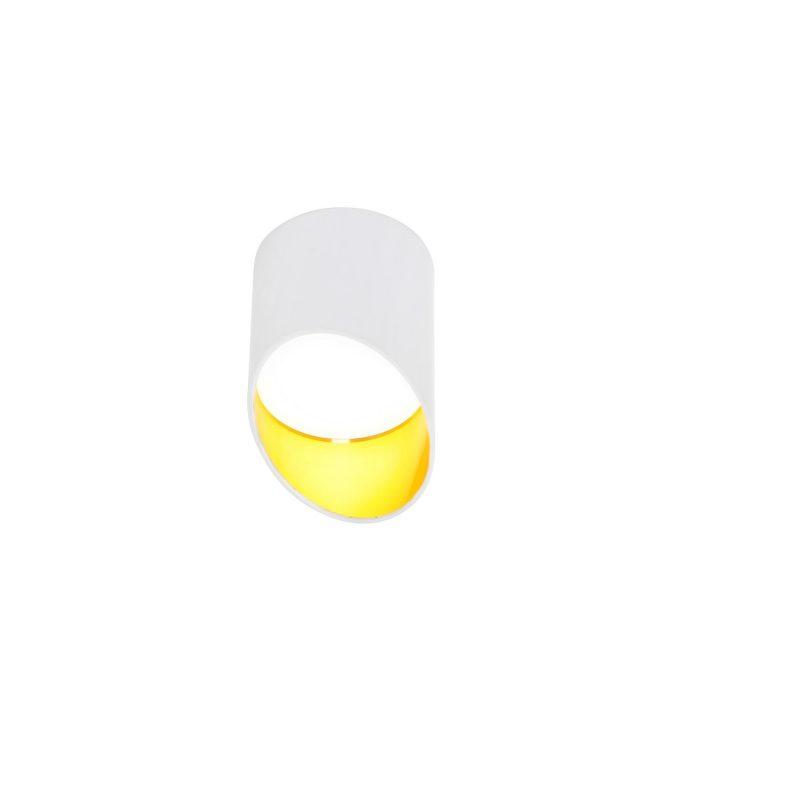 צילינדר לאון 7W לבן/לבן זהב קטן