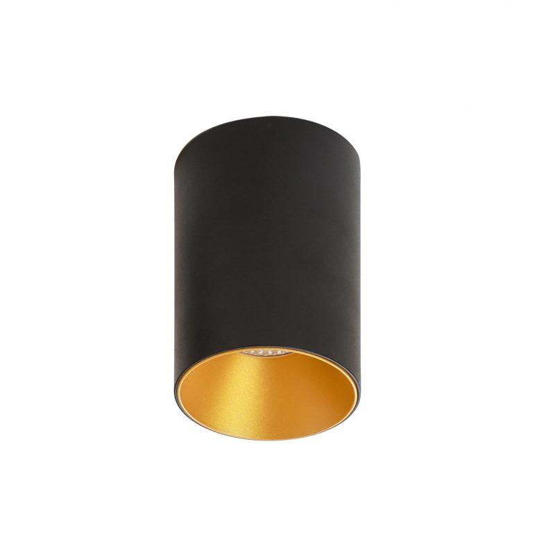 צילינדר טירן שחור זהב 12W