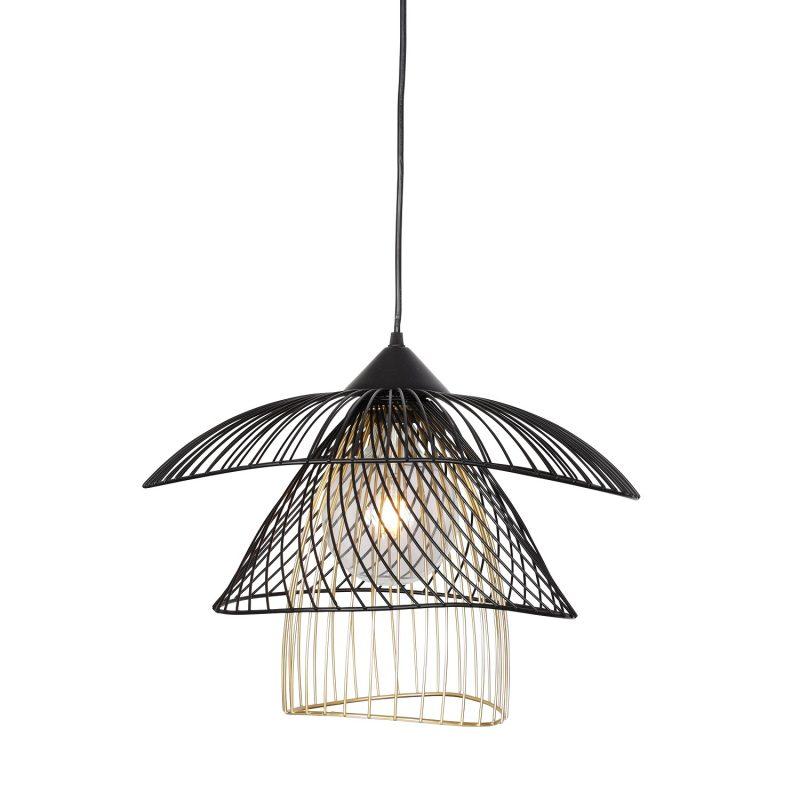 מנורת תליה דגם פלאוור B שחור+זהב